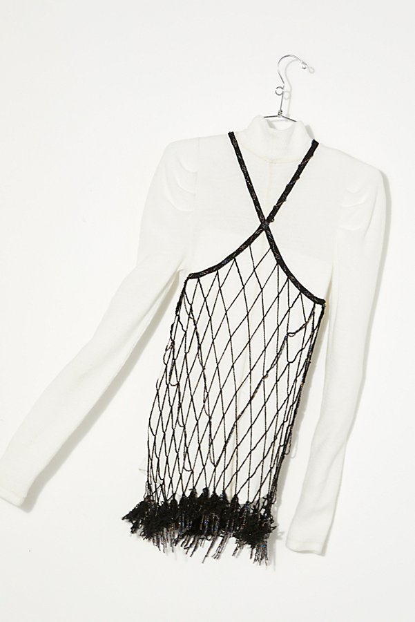 Slide View 4: Vintage 1980s Beaded Net Top