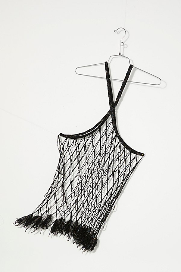 Slide View 5: Vintage 1980s Beaded Net Top