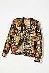 Thumbnail View 1: Vintage 1960s Metallic Floral Shirt