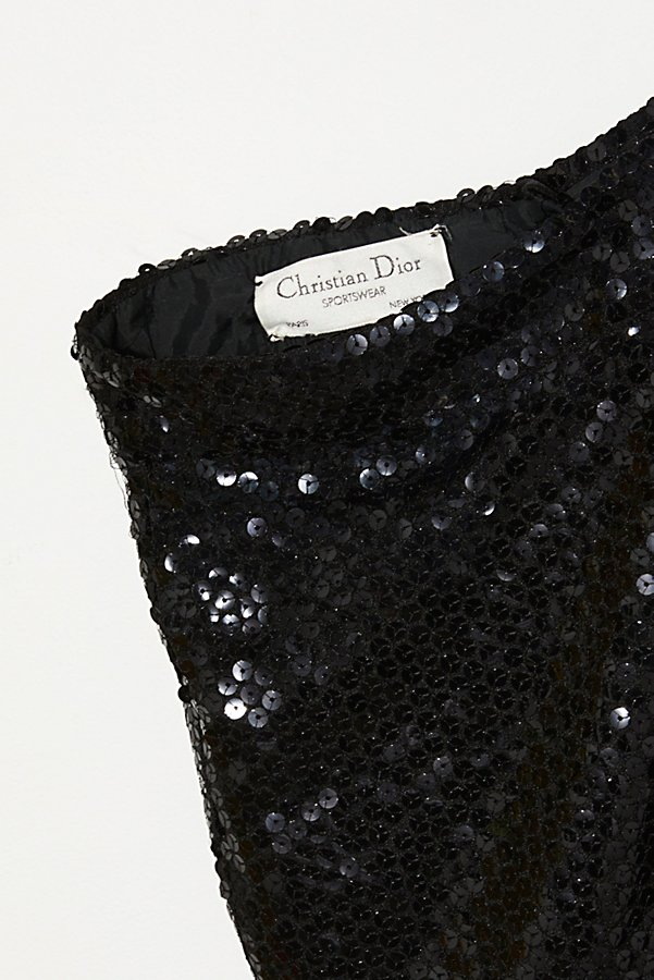 Slide View 2: Vintage 1980s Christian Dior Sequin Shorts