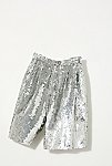 Thumbnail View 2: Vintage 1980s Silver Sequin Shorts