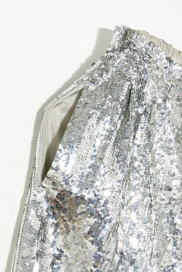 Slide View 4: Vintage 1980s Silver Sequin Shorts