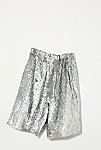 Thumbnail View 5: Vintage 1980s Silver Sequin Shorts