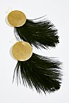 Thumbnail View 2: Full Moon Feather Hoops