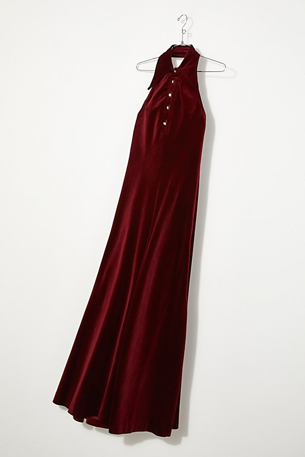 Slide View 1: Vintage 1970s Velvet Party Dress