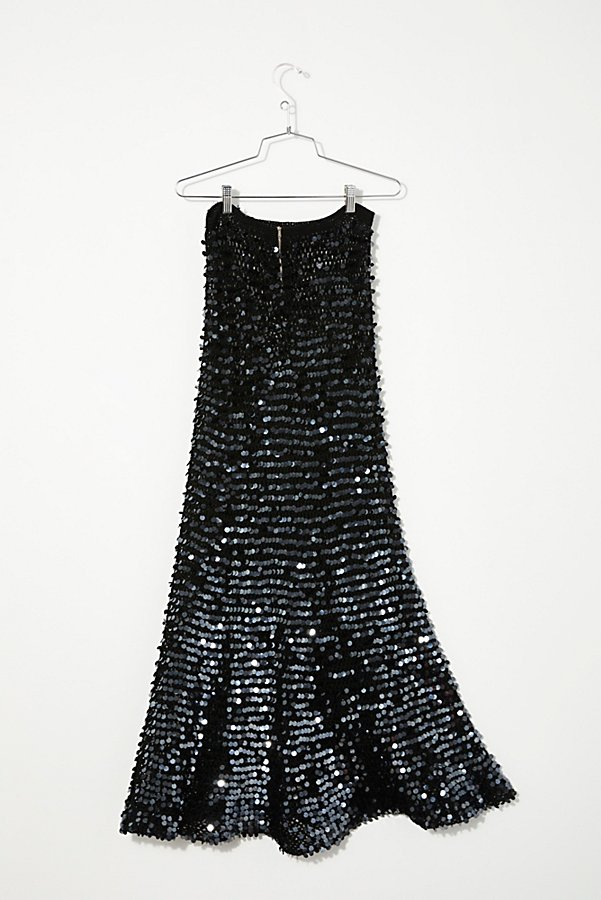 Slide View 3: Vintage 1980s Sequin Knit Skirt