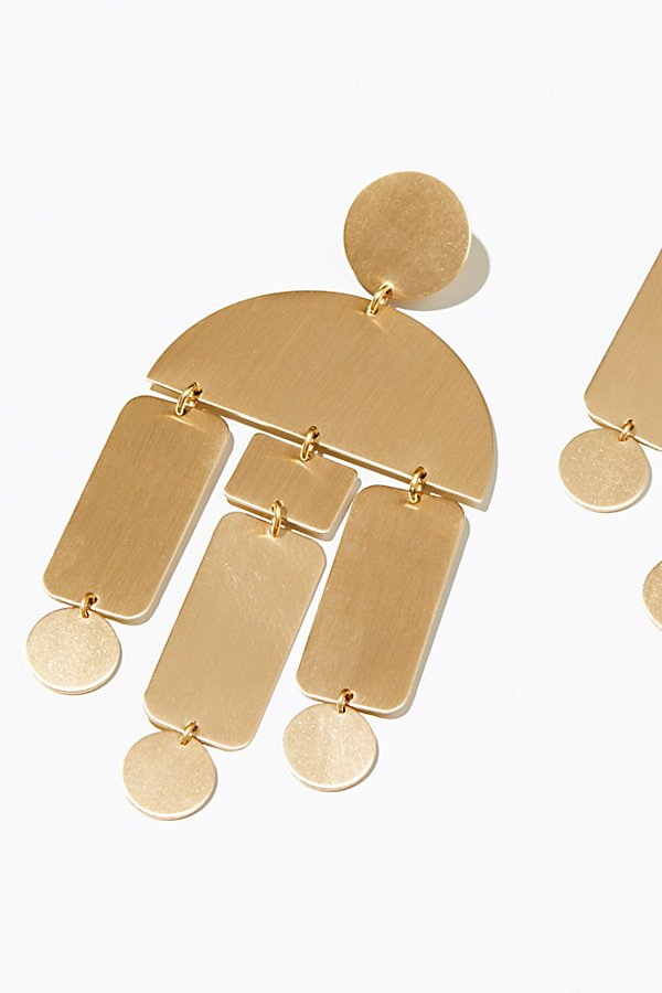 Slide View 3: Windchimes Brass Earring