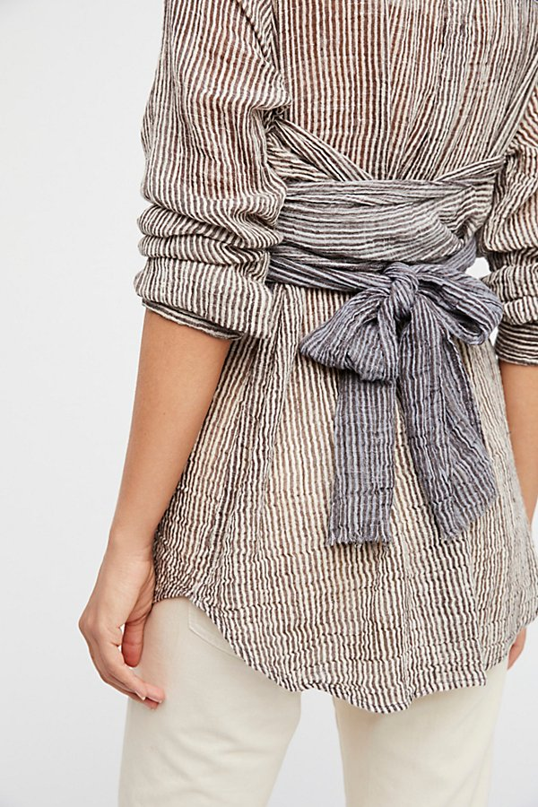 Slide View 3: FP One Railroad Striped Wrap Top