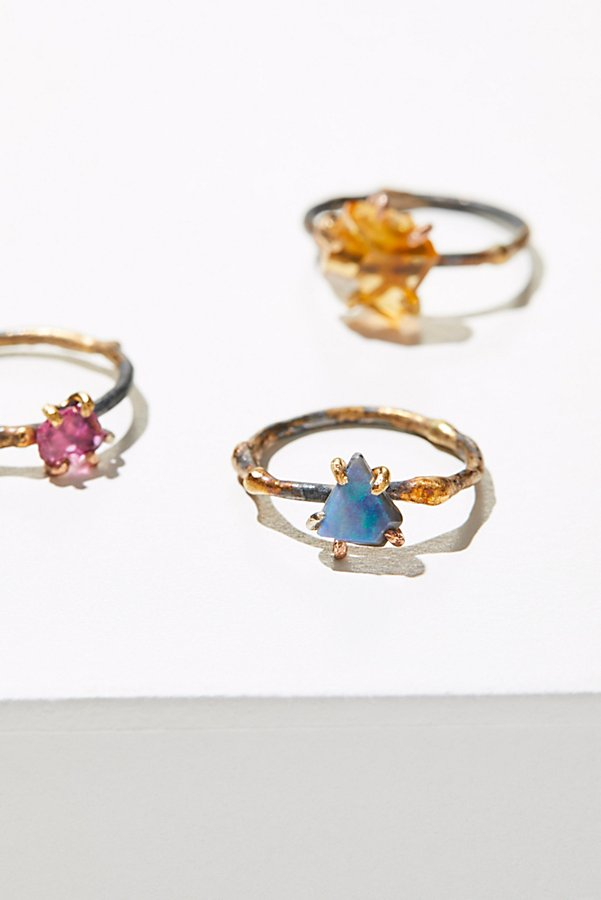 Slide View 1: Small Raw Gemstone Ring