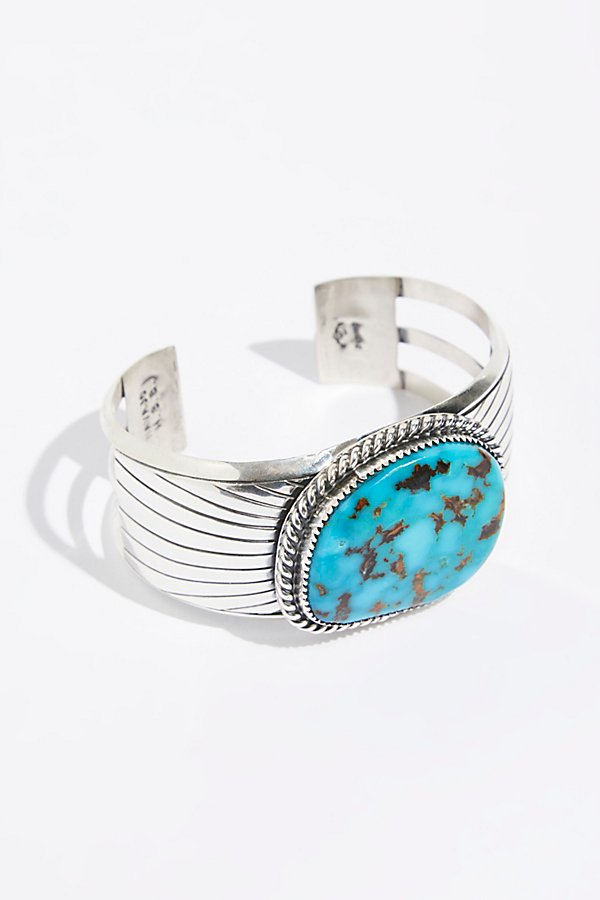 Slide View 1: Square Chinese Turquoise Cuff