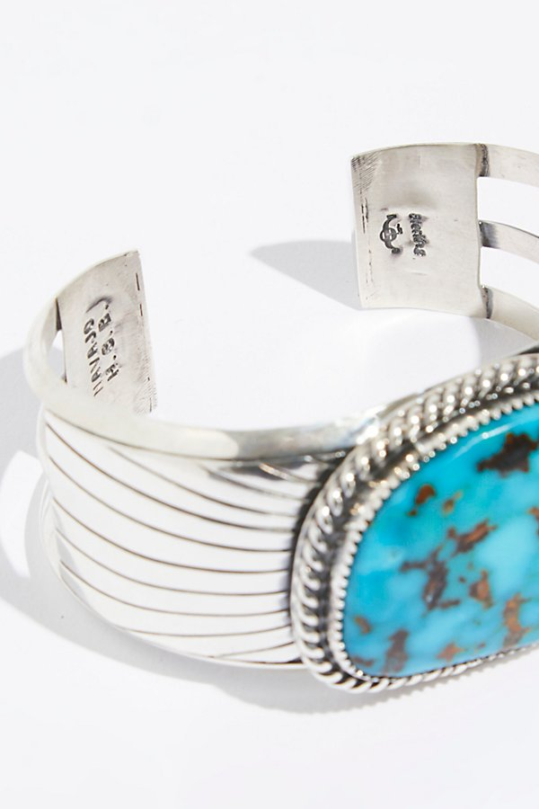 Slide View 4: Square Chinese Turquoise Cuff