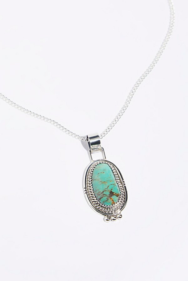 Slide View 2: Sterling Turquoise Pendant