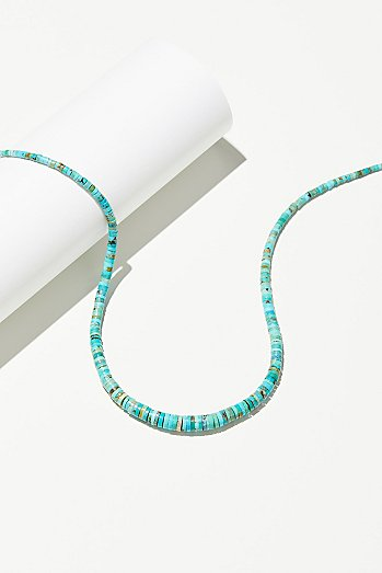 Graduated Disc Turquoise Necklace