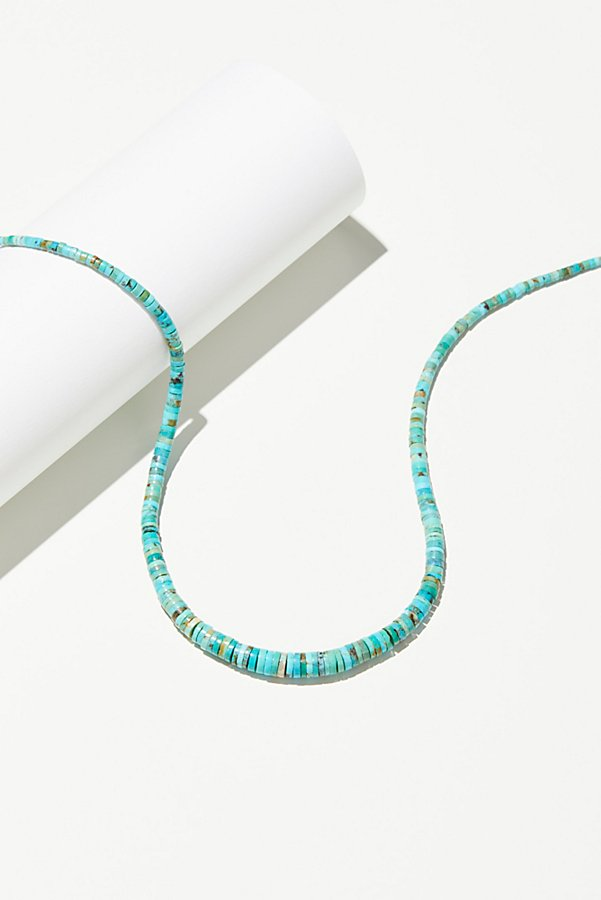 Slide View 1: Graduated Disc Turquoise Necklace