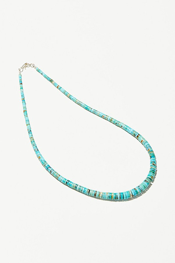 Slide View 2: Graduated Disc Turquoise Necklace