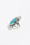 Thumbnail View 2: Feather Stamped Sterling Turquoise Ring