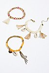 Thumbnail View 1: Sonic Bloom Embellished Anklet Set