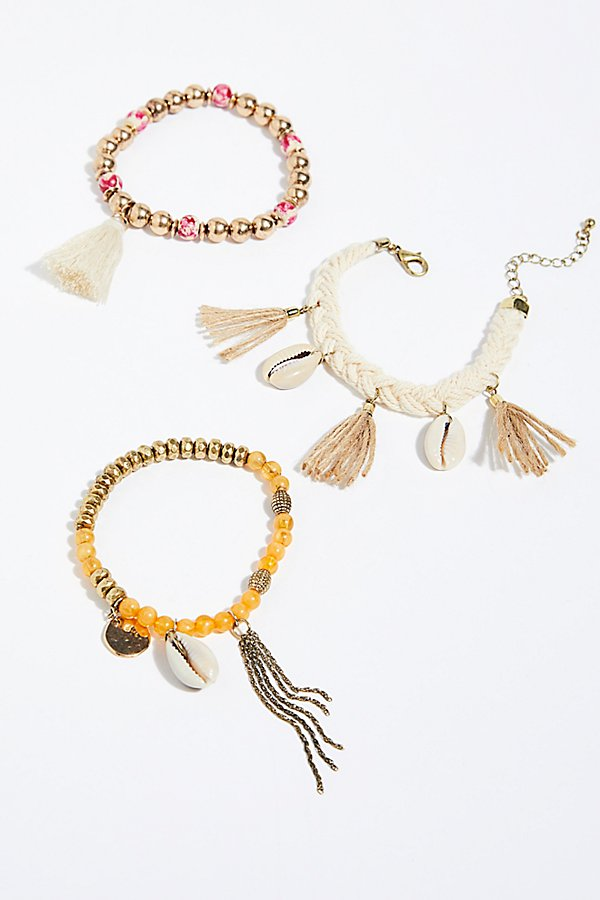 Slide View 1: Sonic Bloom Embellished Anklet Set