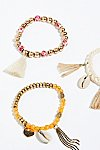 Thumbnail View 2: Sonic Bloom Embellished Anklet Set