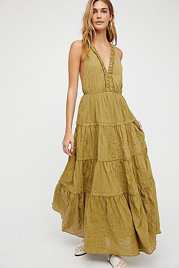 Birdie Solid Sleeveless Maxi Dress