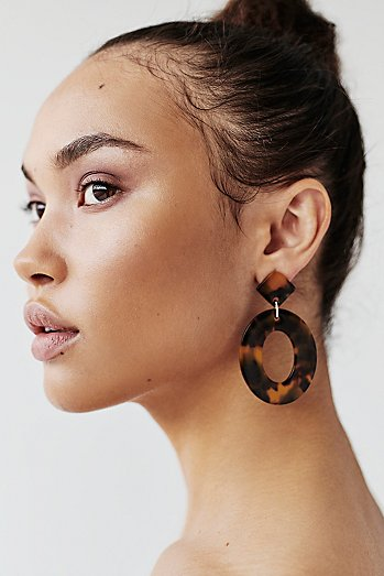 Kelly Resin Drop Hoops