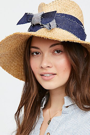 Blue Jeans Straw Hat