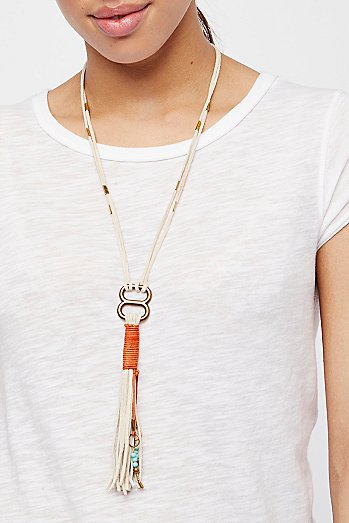 Alloy Ring Leather Bolo
