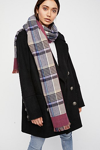 Outsider Plaid Scarf