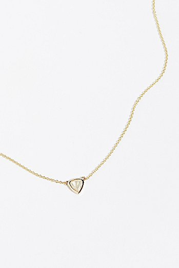 14k Bare Diamond Necklace