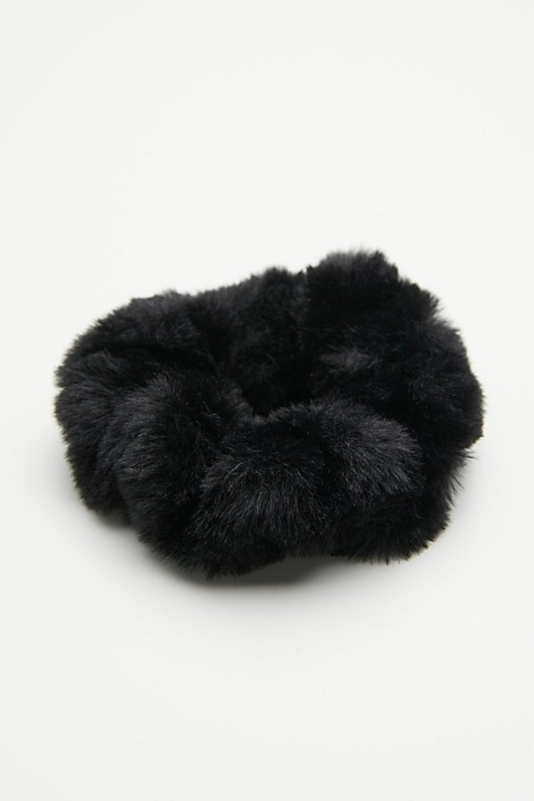Slide View 2: Fuzzy Faux Fur Scrunchie
