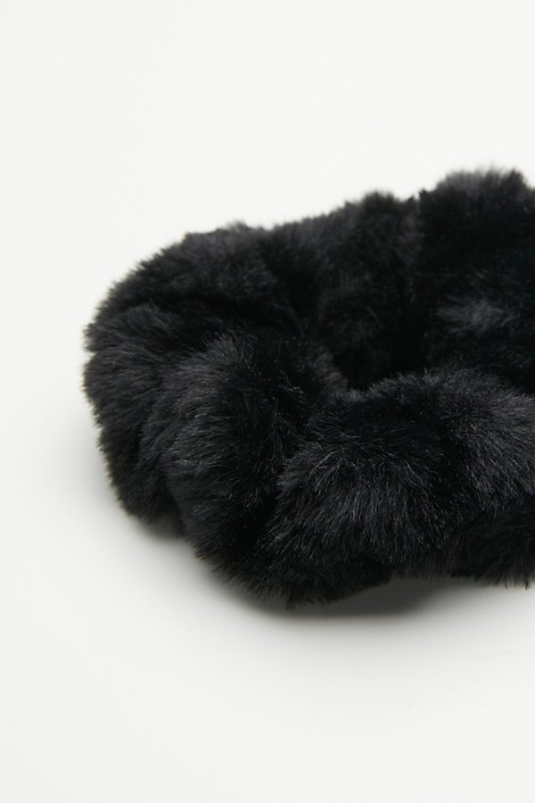 Slide View 3: Fuzzy Faux Fur Scrunchie