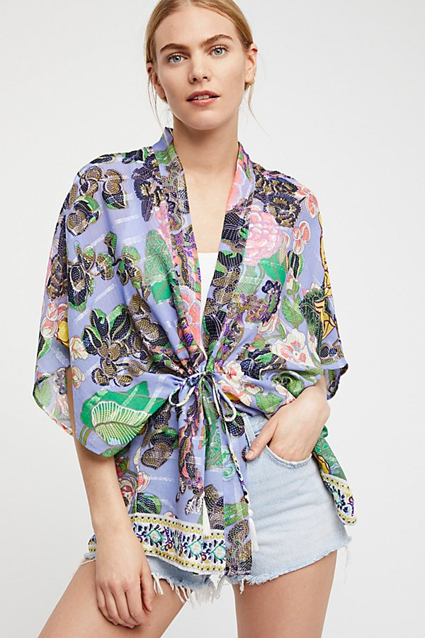 Slide View 1: Enchanted Blooms Printed Kimono