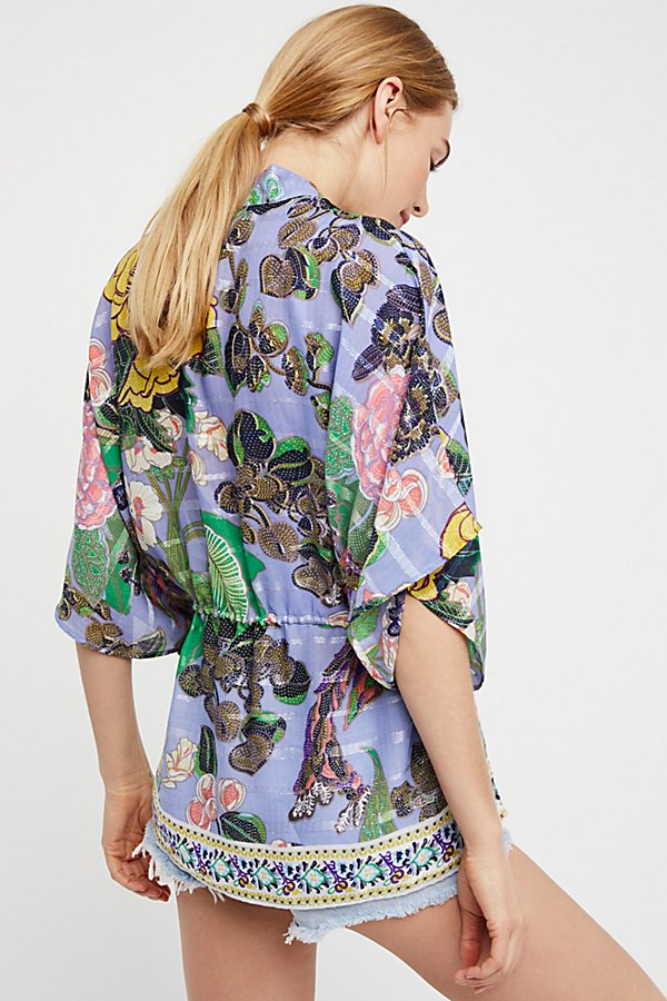 Slide View 2: Enchanted Blooms Printed Kimono