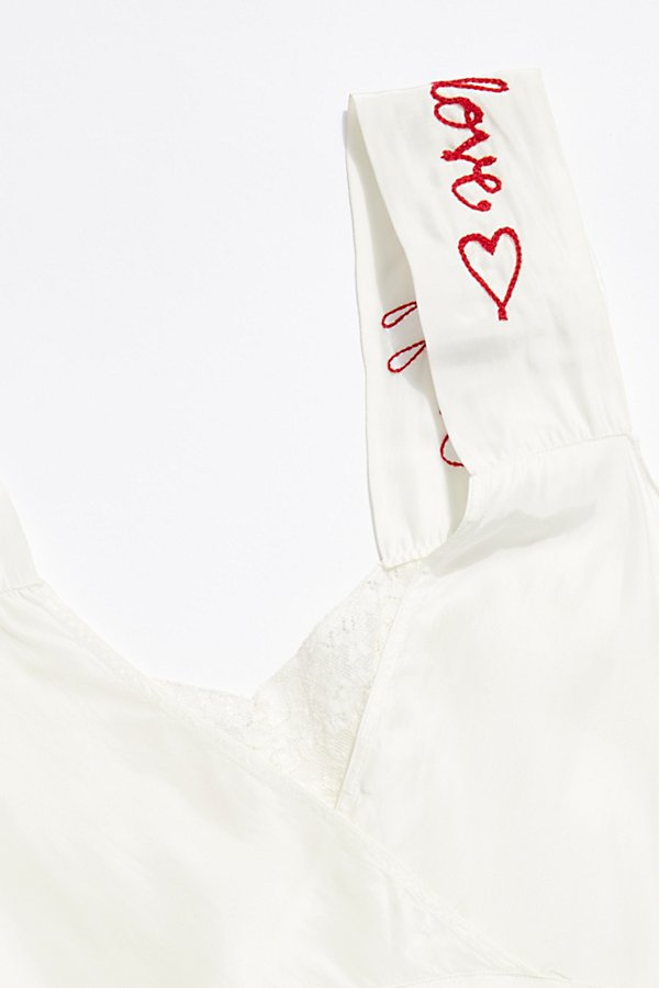 Slide View 4: Vintage 1960s Embroidered Silk Camisole
