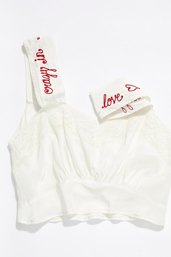 Slide View 5: Vintage 1960s Embroidered Silk Camisole