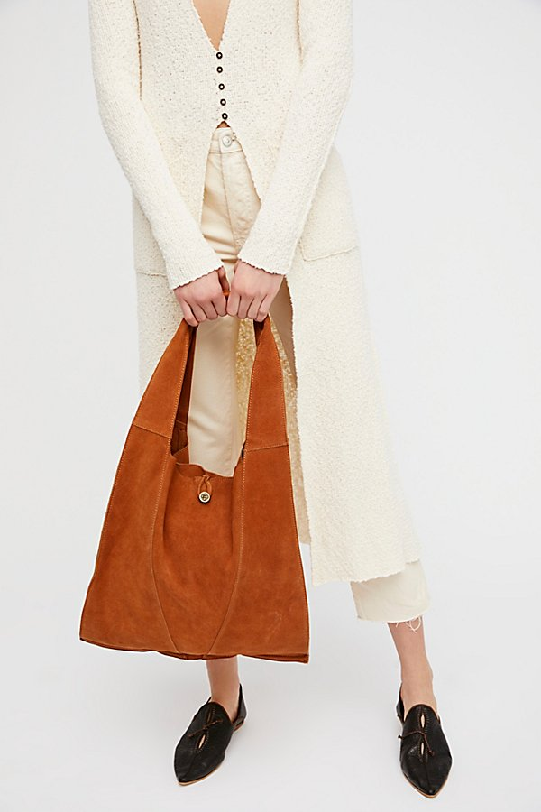 Slide View 2: Slouchy Suede Hobo