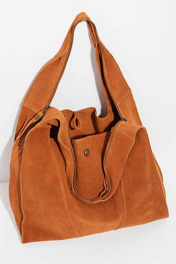 Slide View 7: Slouchy Suede Hobo