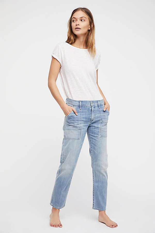 Slide View 1: Leah Denim Cargo Trousers