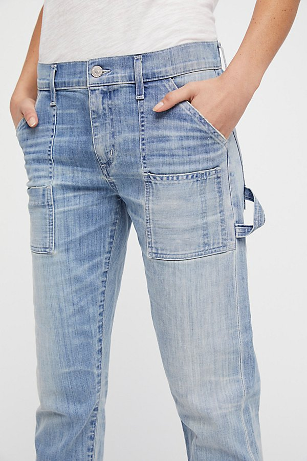 Slide View 3: Leah Denim Cargo Trousers